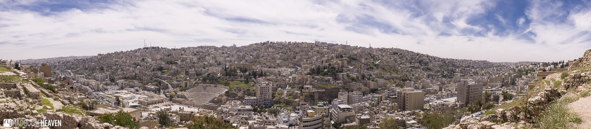 Panorama of Amman, View from the Citadel, 15 days Jordan itinerary