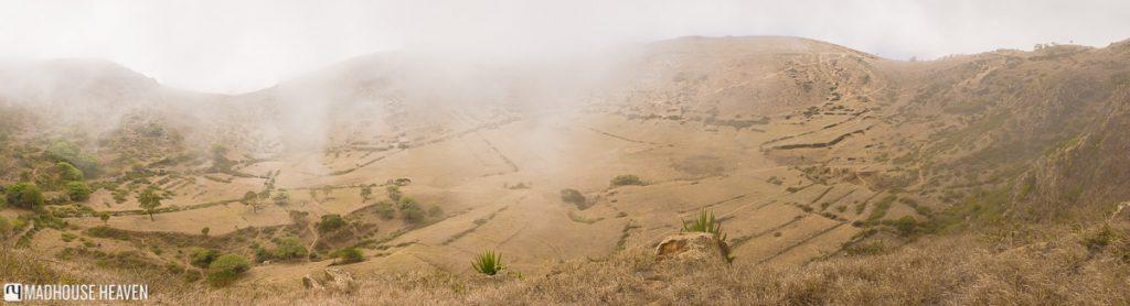 hiking on brava farm volcano caldera cape verde