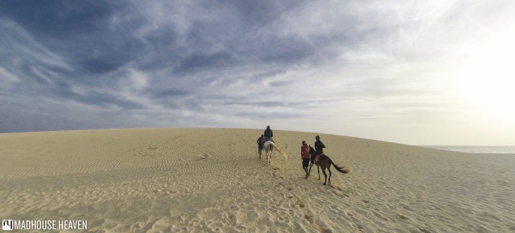 horse riding on sal with santa marilha, on Cape Verde