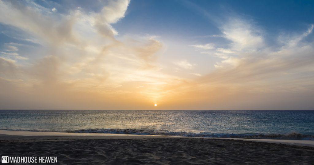 Sunset Sal Beach Sal Island Cape Verde Santa Marilha