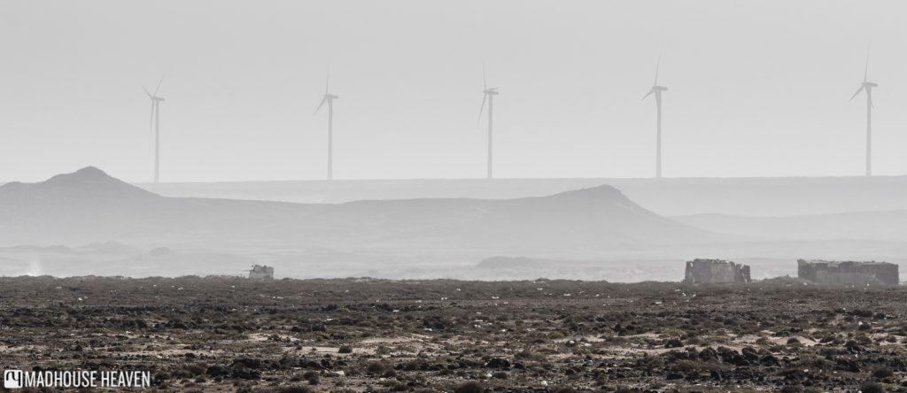 Cape Verde Sal Island Tour, Salinas, Pedra de Lume, industrial Windmills, desolate landscape, post-apocalyptic