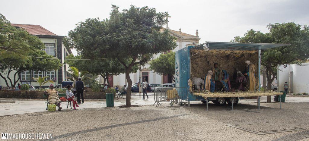 african nativity scene middle-eastern jesus praia santiago island cape verde