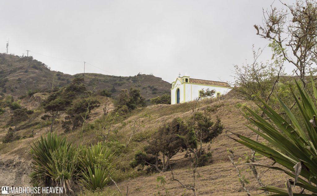 hiking on brava cape verde village church chapel Igreja Santa Antão