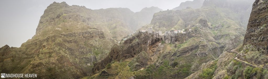 hiking to the village of fontainhas, built on ancient lava flow