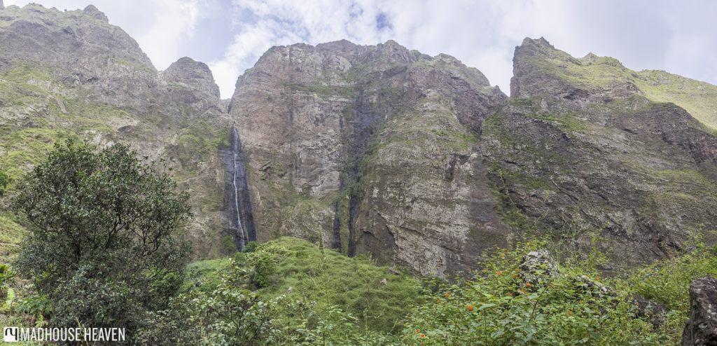 Waterfall Hike in Paúl Valley Santo Antão, Ra de Neve Waterfall, Ribeira das Pombas, Cape Verde