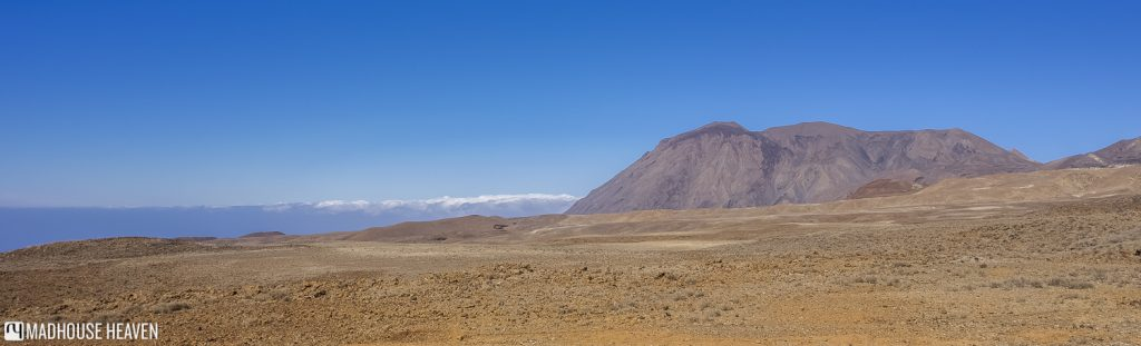 panorama of the desert plateau of tarrafal, above the clouds, Visiting Tarrafal on Santo Antão, Cape Verde