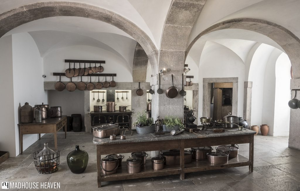 royal kitchen of Pena National Palace, 19th century cooking equipment,