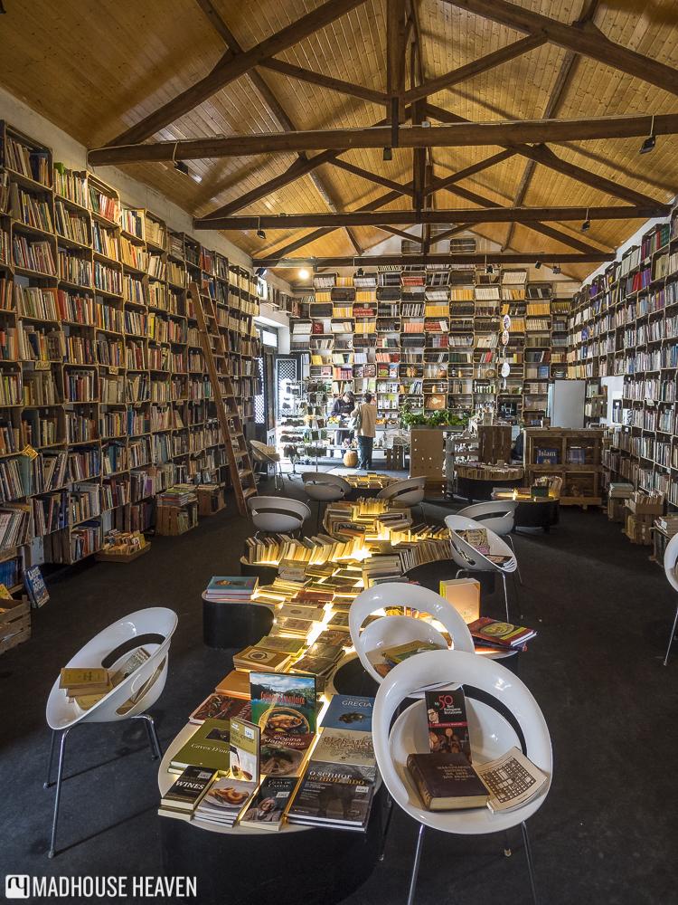 The Mercado Biológico de Óbidos, a former organic market transformed into a bookstore