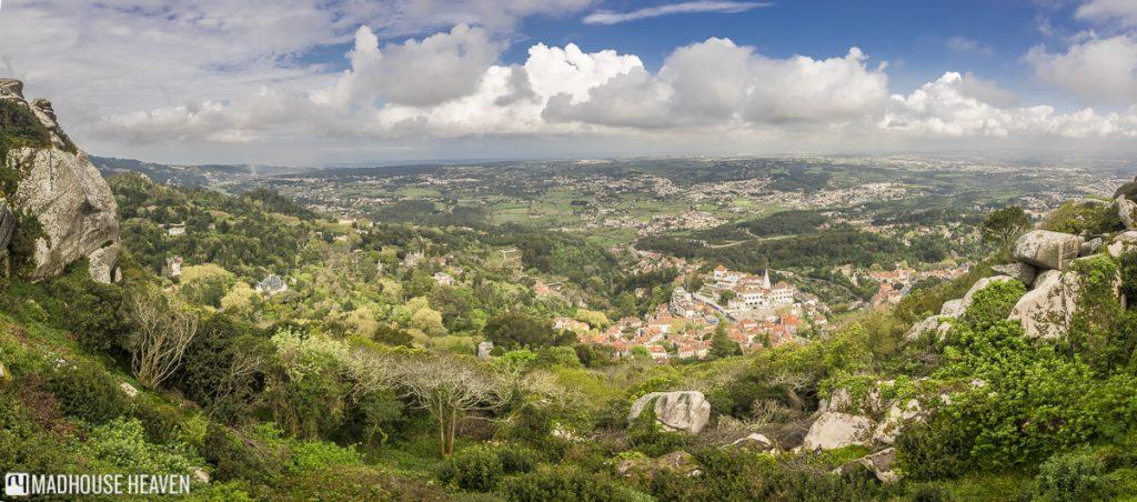 Magical Weekend Getaway in Sintra, View of Sintra, Serra, Portugal.