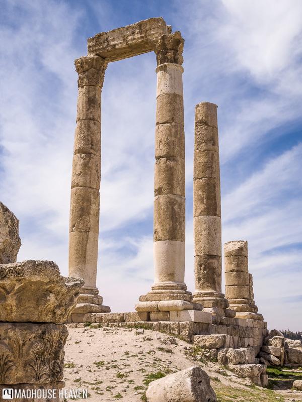 what to do in Amman, temple of Hercules, the citadel, amman, jordan. Bedouin Metropolis