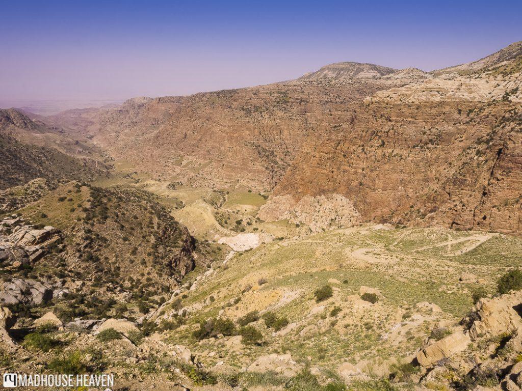 Descending into the Dana Valley, hiking in dana nature reserve