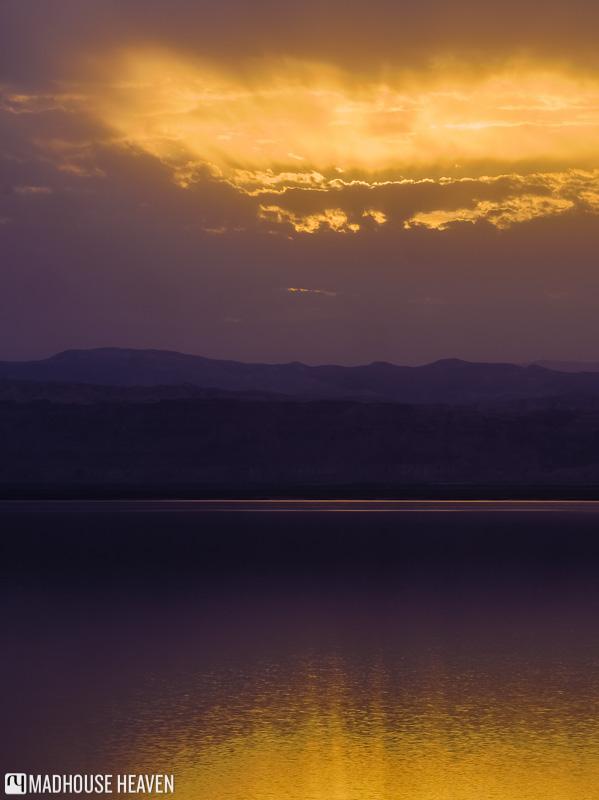 floating, dead sea, indigo sunset, epic sunset, jordan