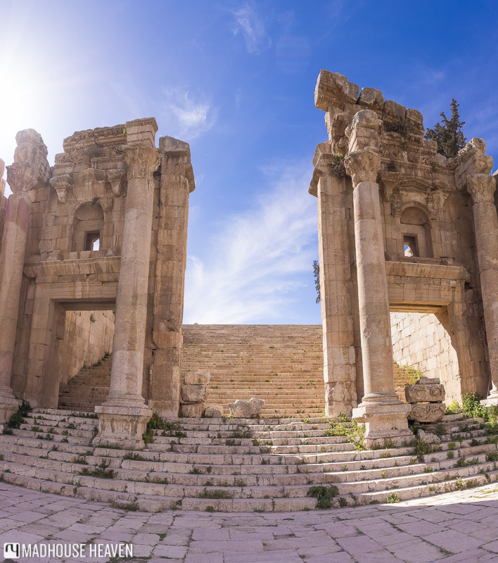 Northern Tetrapylon, Corinthian Columns, Roman Ruins, steps,