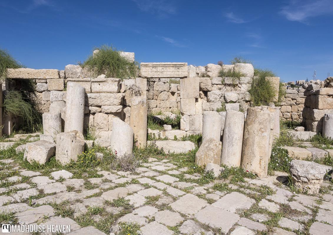 visiting jerash jordan, Cardo Maximus, roman ruins, roman roads,