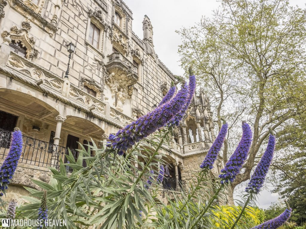 The Manueline-Gothic facade of the palace of the Quinta da Regaleira