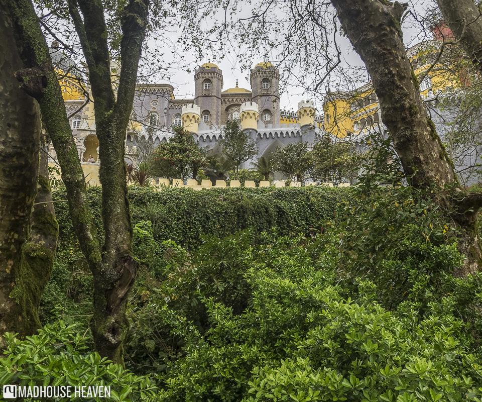 Disney like castle between the trees, Moorish architecture, Science Romanticism Pena National Palace, Sintra