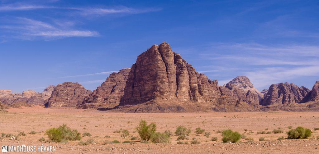 7 Pillars of Wisdom, wadi rum limestone desert, jordan
