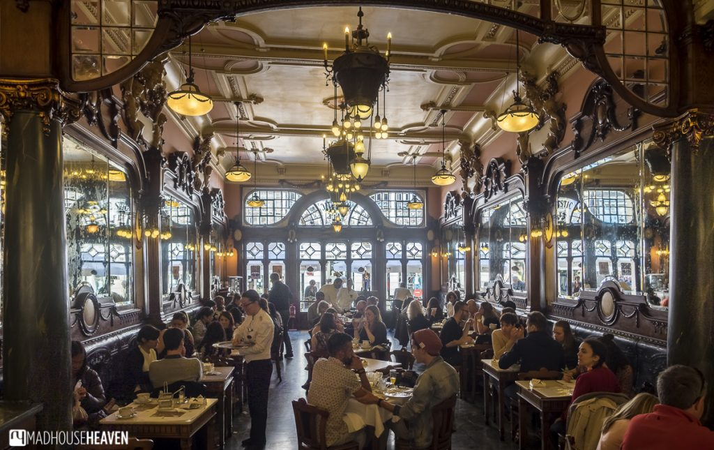 The interior of Café Majestic, easily a trip back in time