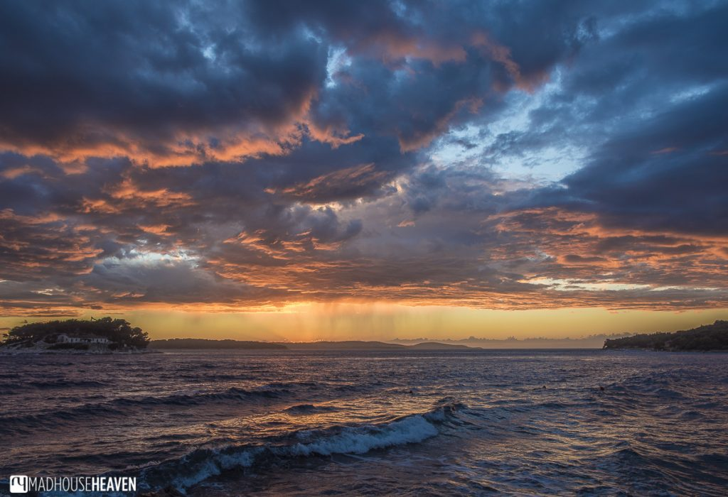 Hvar End of Season, Croatia, red sunset