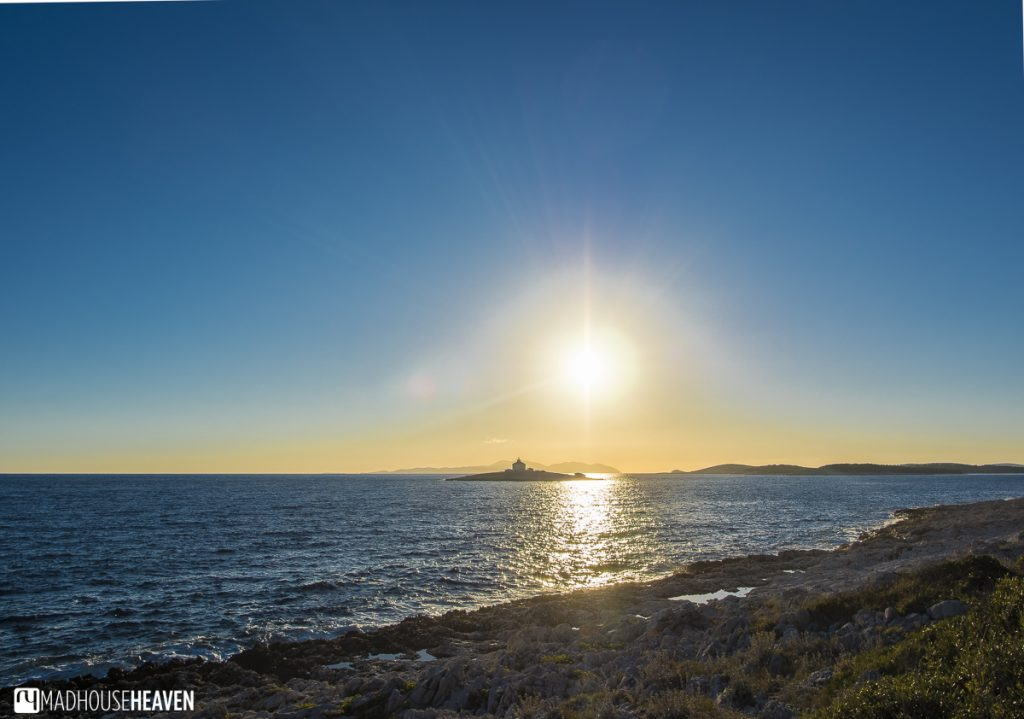 Hvar End of Season, sparkling golden sunset, Croatia