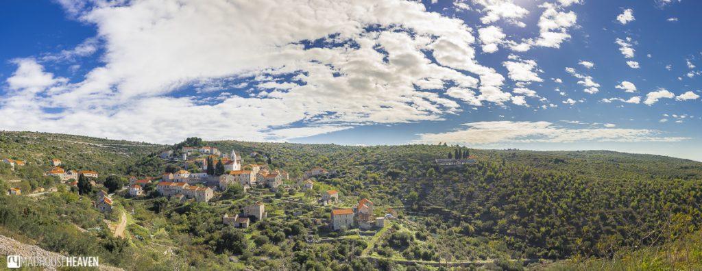 Hvar Island Tour, hill town, fairytale landscape, blue skies
