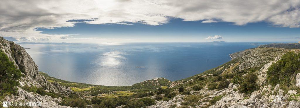 Hvar Island Tour, clouds over the Adriatic sea, beautiful ocean landscape