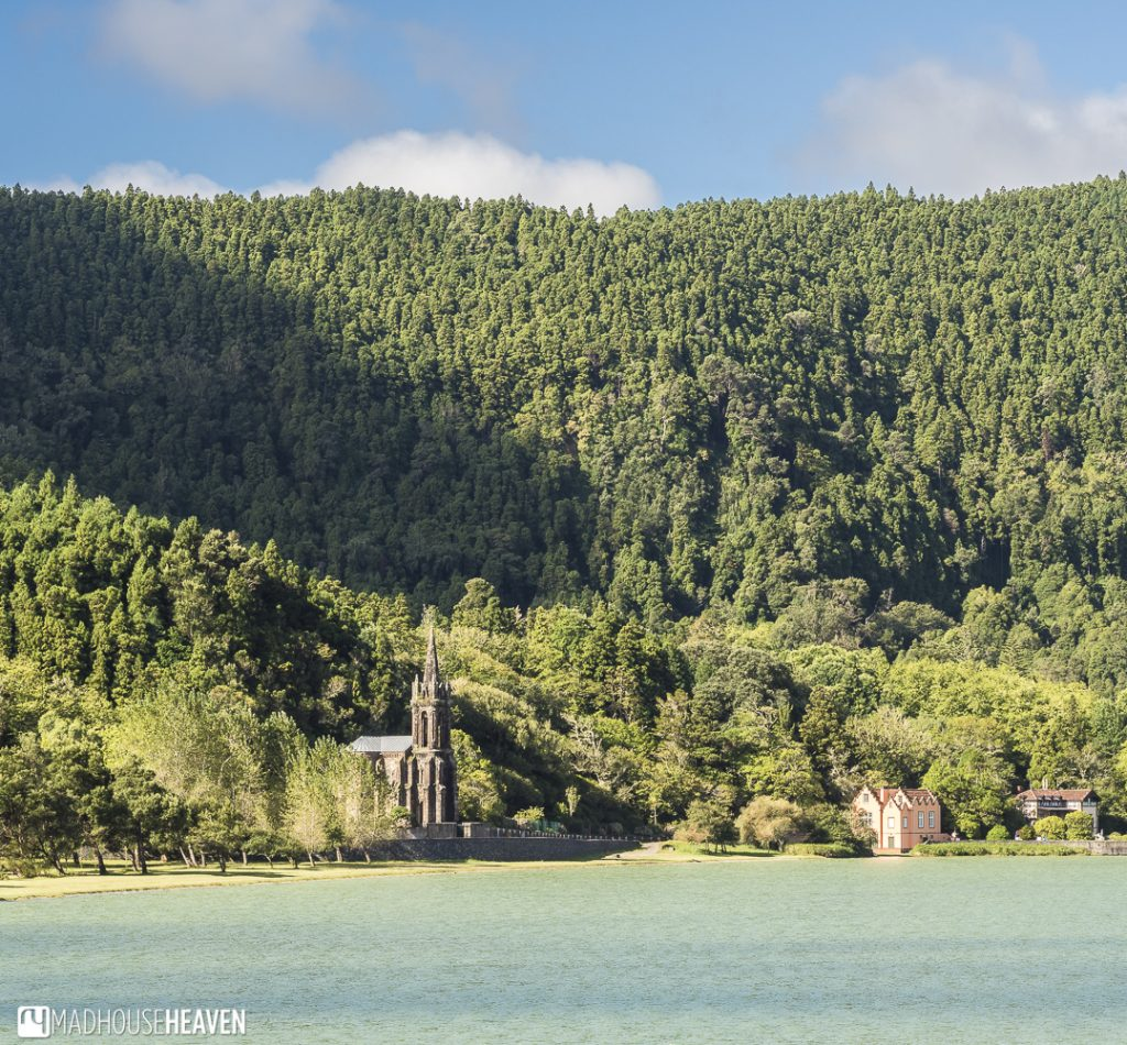 the church the Hermitage of Nossa Senhora das Vitórias seen on our day trip to furnas lake, azores