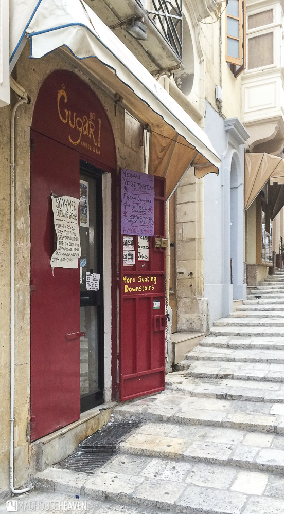 Gugar on Republic street in Valletta, one of the best places for a late night snack in Valletta