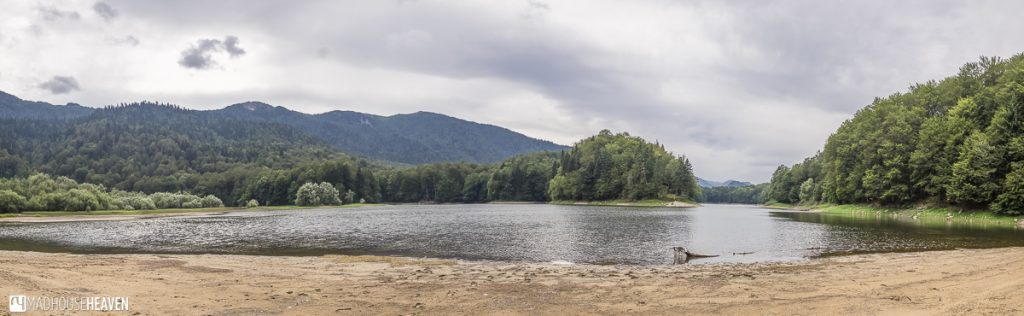 View of Biogradsko lake from one of its sandy banks - Montenegro