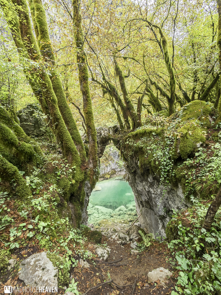 The gate of wishes along the trek through Mrtvica Canyon, Montenegro