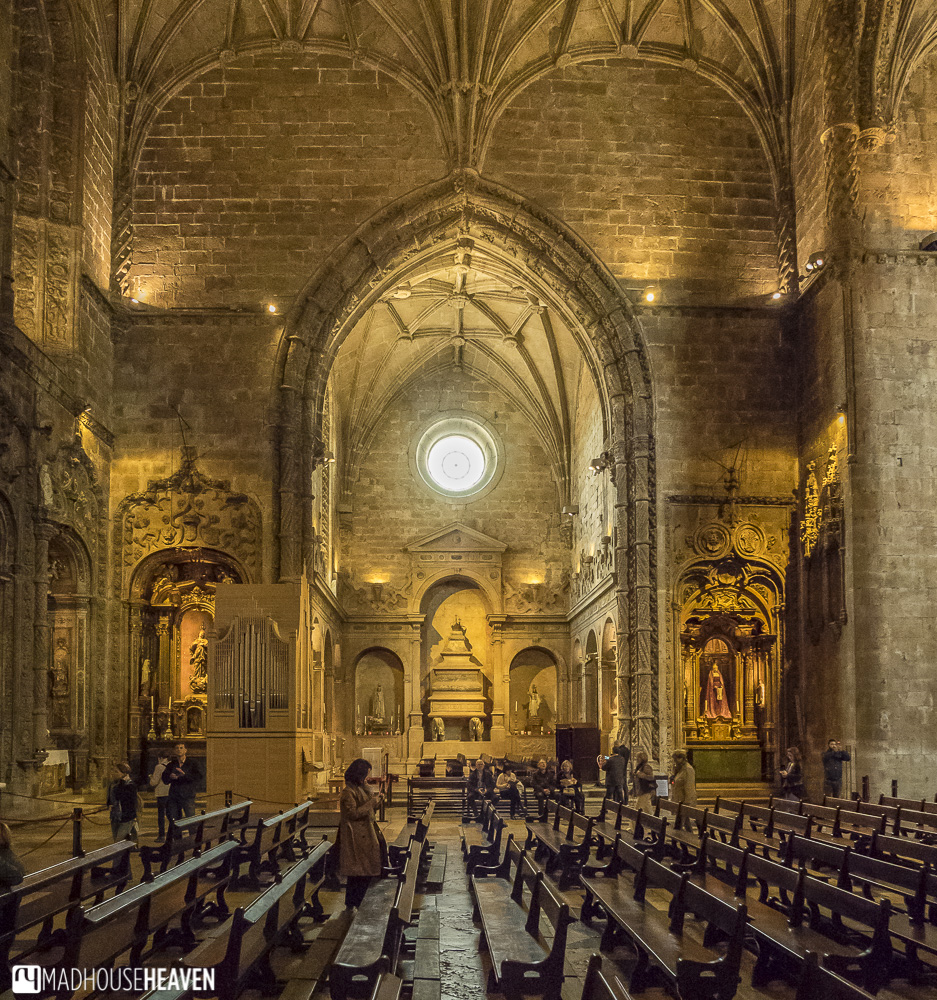 Church with bare stonework - Jerónimos Monastery - churches in Lisbon