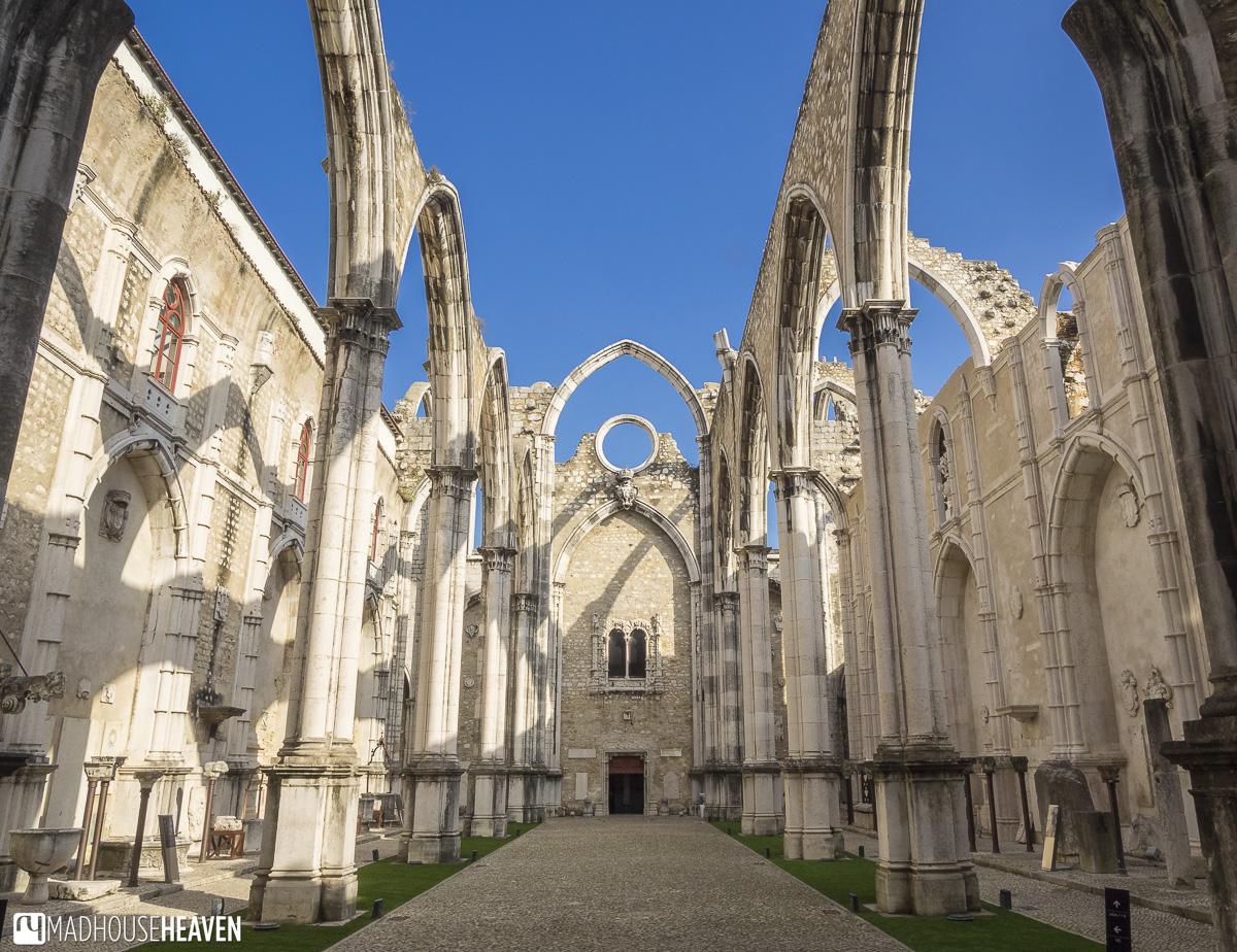 outdoor church nave, a tour of Lisbon's churches