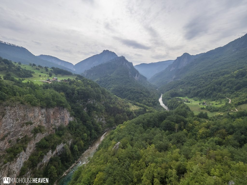Tara Canyon and Tara river cut into the Mountains of montenegro