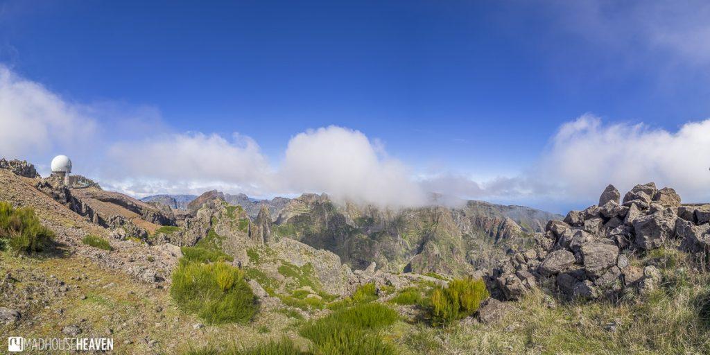 mountain peaks from Pico do Arieiro