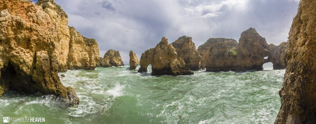 Algarve, cliffs in the sea