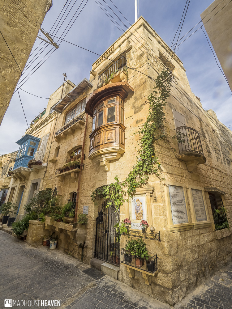Mdina, Malta, old European house with Arabic influence, Mediterranean architecture, small streets