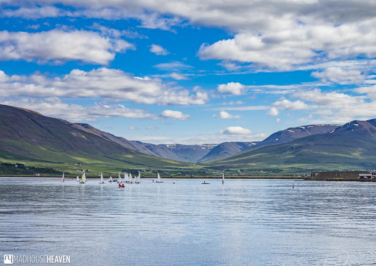 Iceland, Akureyri, sail boats
