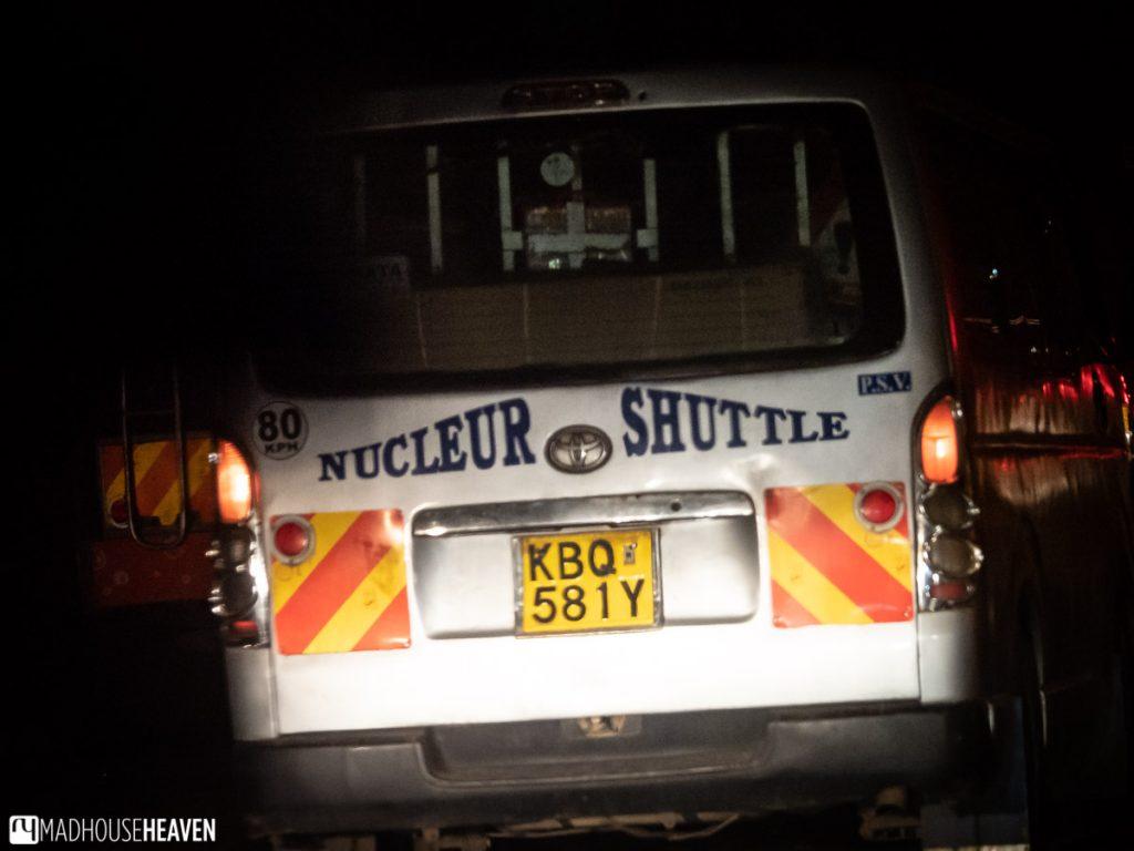 Matatu, a passenger van taxi in Kenya