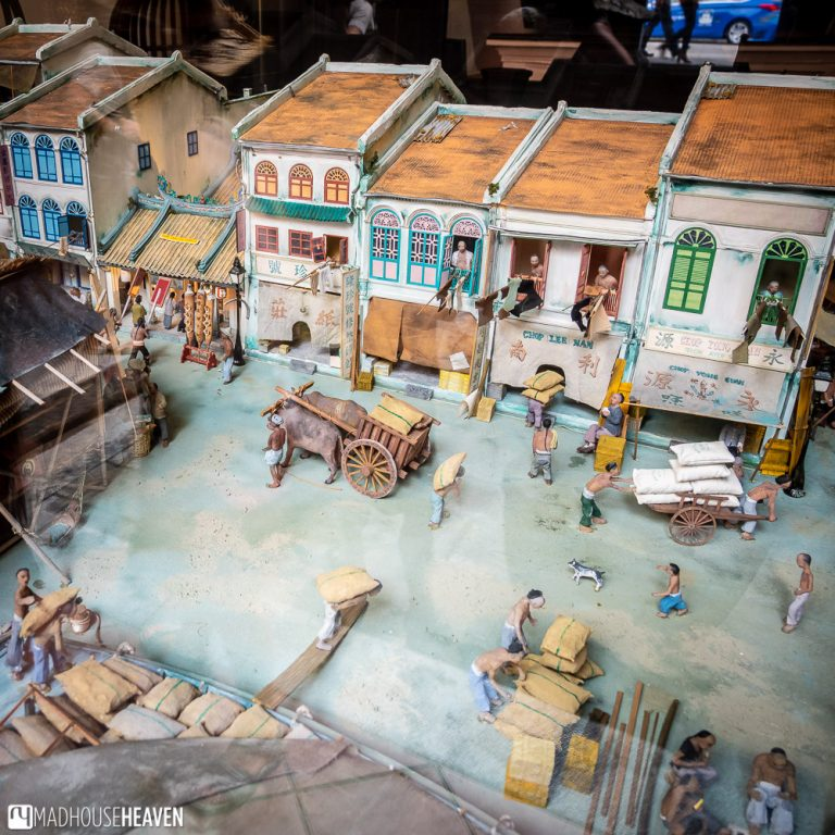 Diorama of what Chinatown used to look like in the 1800's