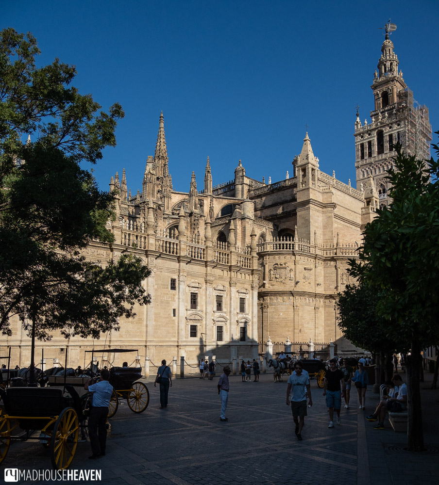 The Seville Cathedral stands in the centre of the Old Town
