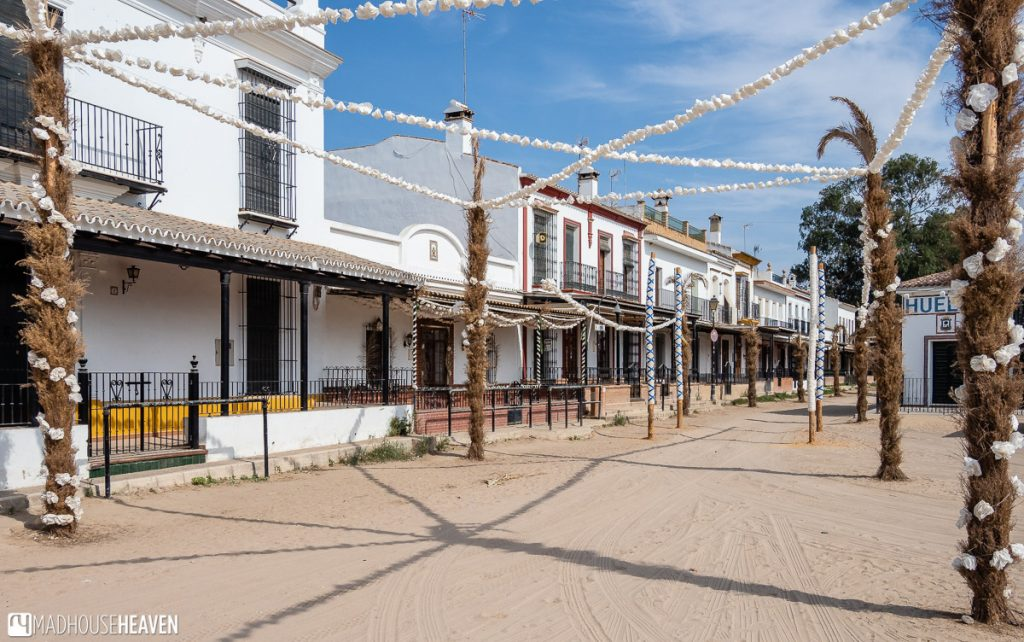 Street in El Rocio that looks like from a Western movie
