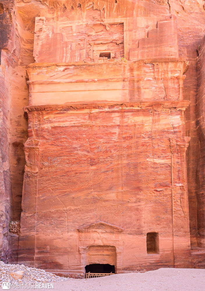 A simple tomb in Petra, probably meant for a regular nobleman, with a sky door