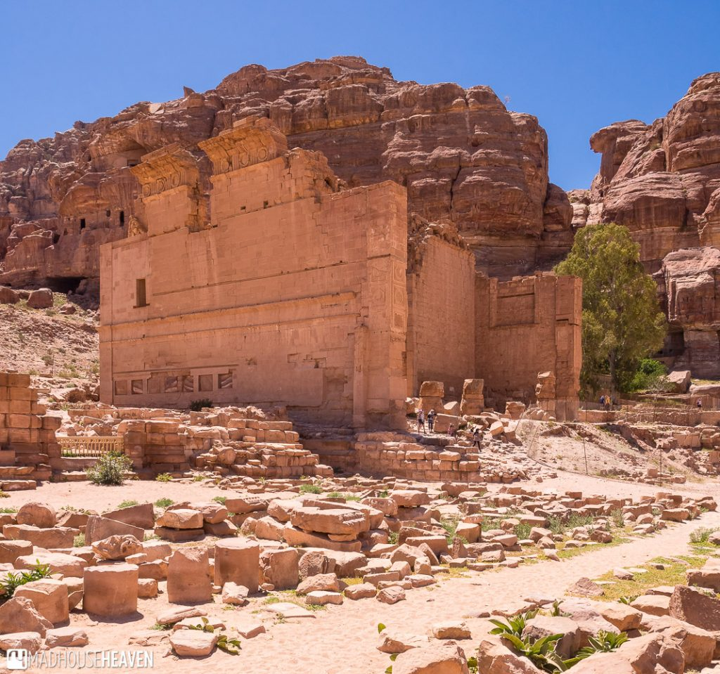 The temple of Dushares surrounded by broken columns