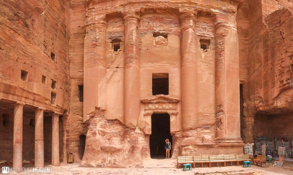 The courtyard of the Urn tomb, inside Petra, Jordan