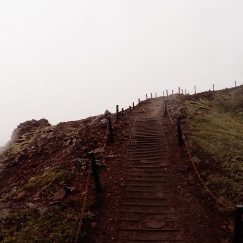 Walking Up the slopes of the Thrihnukagigur Volcano in Iceland