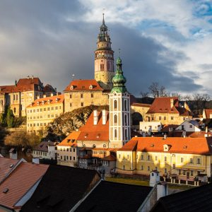 Český Krumlov - view of the Castle from the Old Town