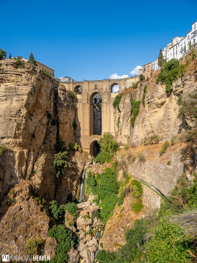 Puente Nuevo and the El Tajo gorge is seen from the Mirador, a short hike downhill from the old town of Ronda