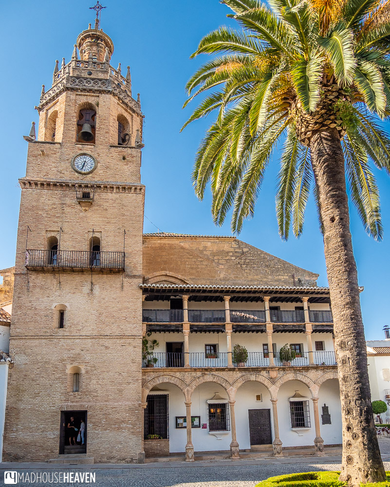 Santa Mariá la Mayor Church dominates one side of the main square of the Ronda old town