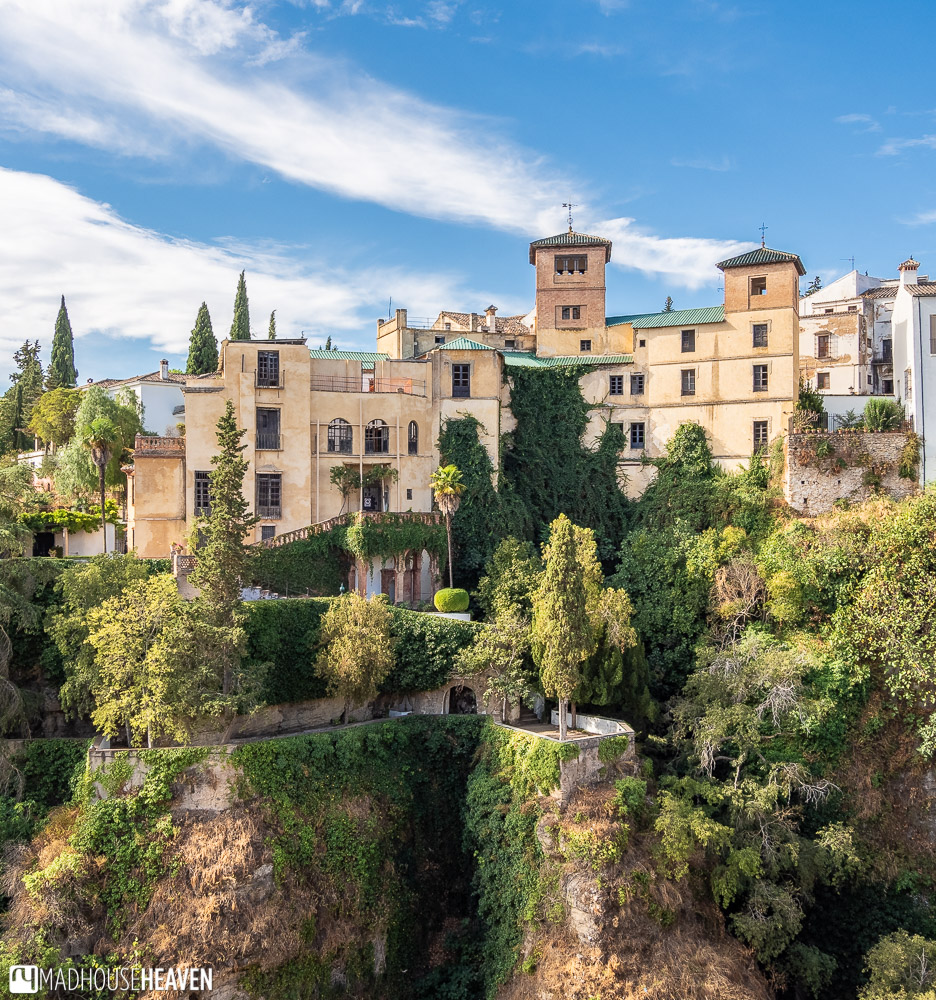 Beautiful Casa del Rey Moro and its gardens, perched at the edge of the El Tajo gorge