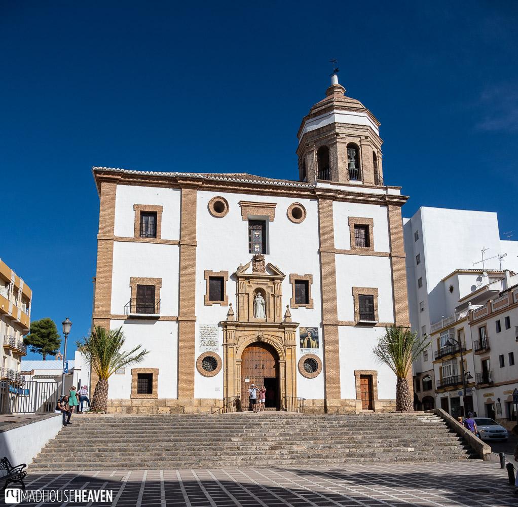 Facade of the Iglesia de Nuestra Señora de la Merced, in the new town of Ronda